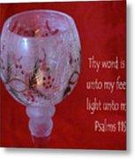 Lamp Unto My Feet Metal Print