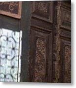 Lamu Door Metal Print