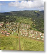 Lanai City Aerial Metal Print