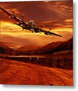 Lancaster Over Ouzelden Metal Print by Nigel Hatton