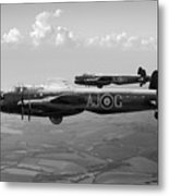 Lancasters Aj-g And Aj-n Carrying Upkeeps Black And White Versio Metal Print