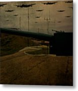 Lancasters Over Newhaven March 30th 1944 Metal Print