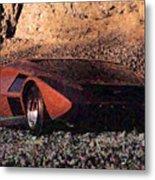 Lancia Stratos Zero Metal Print