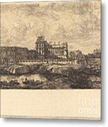 L'ancien Louvre D'apr?s Une Peinture De Zeeman, 1651 (the Old Louvre, From A Painting By Zeeman, L651) Metal Print