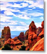 Land Of Moab - Watercolor Metal Print