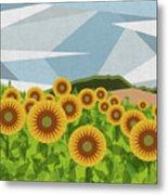 Land Of Sunflowers. Metal Print