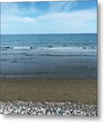 Land Sea And Ocean Background Metal Print