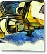 Landed Imperial Shuttle - Pa Metal Print