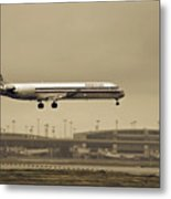 Landing At Dfw Airport Metal Print