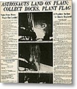 Landing On Moon, 1969 Metal Print