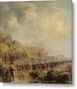 Landing The Shore End Of The Atlantic Cable Metal Print