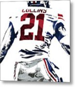 Landon Collins New York Giants Pixel Art 1 Metal Print