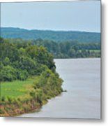 Landscape Along The Tennessee River At Shiloh National Military Park, Tennessee Metal Print