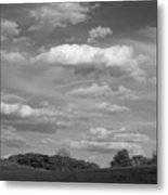 Landscape And Clouds Metal Print