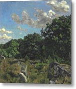 Landscape At Chailly Metal Print