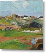Landscape At Le Pouldu Metal Print