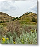 Landscape In Northwest North Dakota  Metal Print