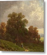 Landscape In The Loisach-valley Metal Print