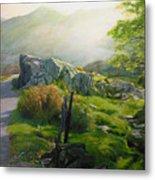 Landscape In Wales Metal Print