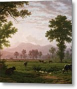 Landscape Near Lucerne With View To Mount Rigi Metal Print