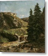 Landscape Near Ornans Metal Print