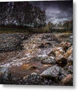Landscape River And Bridge II Metal Print