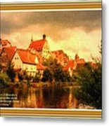 Landscape Scene - Germany L A With Decorative Ornate Printed Frame. Metal Print