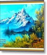 Landscape Scene Near Virginiahurst L A With Alt. Decorative Ornate Printed Frame. Metal Print