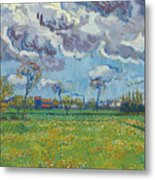 Landscape Under A Turbulent Sky Metal Print