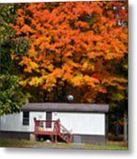 Landscape View Of Mobile Home 1 Metal Print