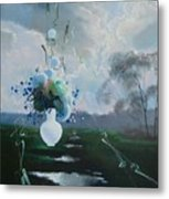 Landscape Whith Bouquet Metal Print