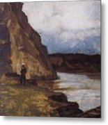Landscape With A Figure Of His Brother Vasily Ivanovich Surikov Metal Print