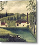 Landscape With A Fisherman Metal Print