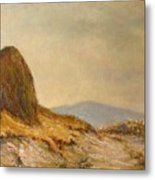 Landscape With A Hayrick Metal Print