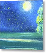 Landscape With A Moon Metal Print