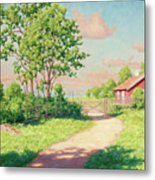 Landscape With A Red Cottage Metal Print