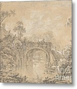 Landscape With A Rustic Bridge Metal Print