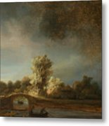 Landscape With A Stone Bridge Metal Print