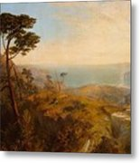 Landscape With Classical Ruins Metal Print