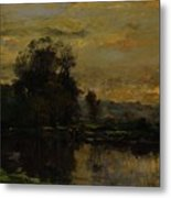 Landscape With Ducks Metal Print