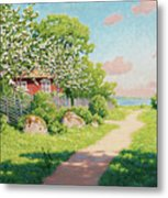Landscape With Fruit Trees Metal Print
