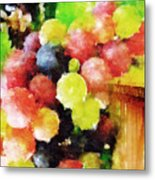 Landscape With Giant Grapes Metal Print