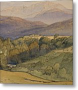landscape with Lochnagar in the distance Metal Print