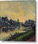 Landscape With Lock 1886 Metal Print