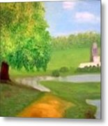 Landscape With Luxuriant Tree And Folly Metal Print