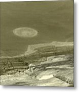 Landscape With Moon Metal Print