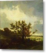 Landscape With Oaktree Metal Print