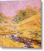 Landscape With Stream Metal Print
