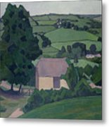 Landscape With Thatched Barn Metal Print
