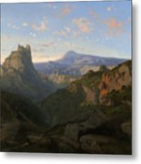 Landscape With The Castle Of Montsegur Metal Print